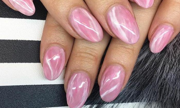 кварцевый дизайн ногтей