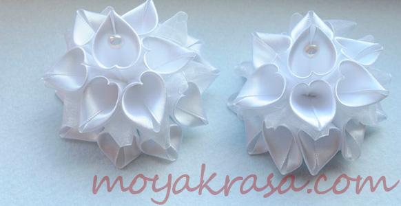 белые банты ручной работы