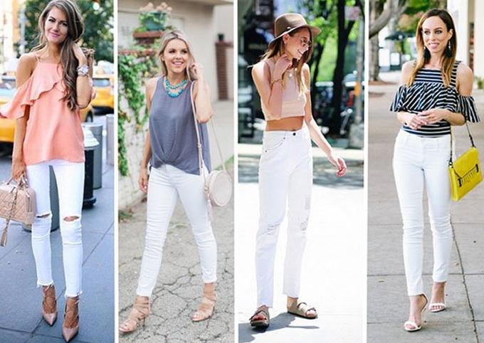 белые джинсы летом