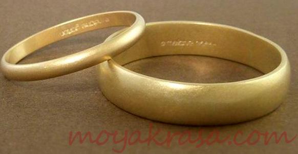 матовые кольца из желтого золота