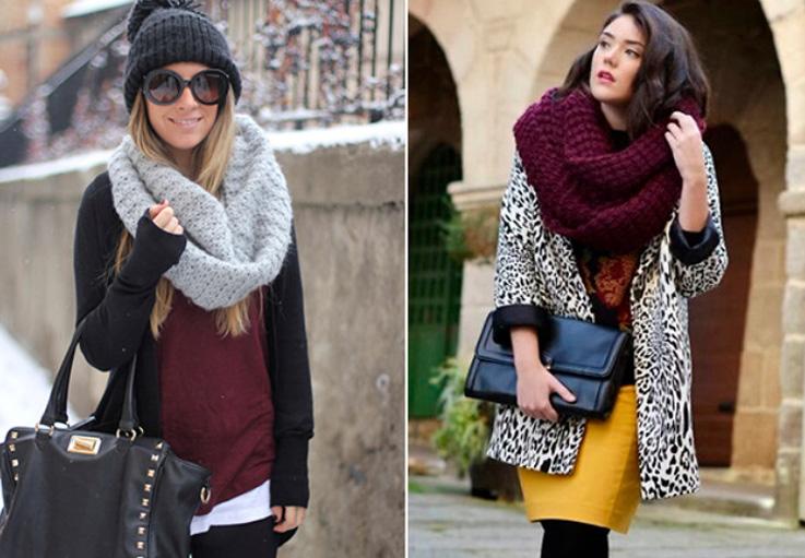 шарф к осеннему пальто