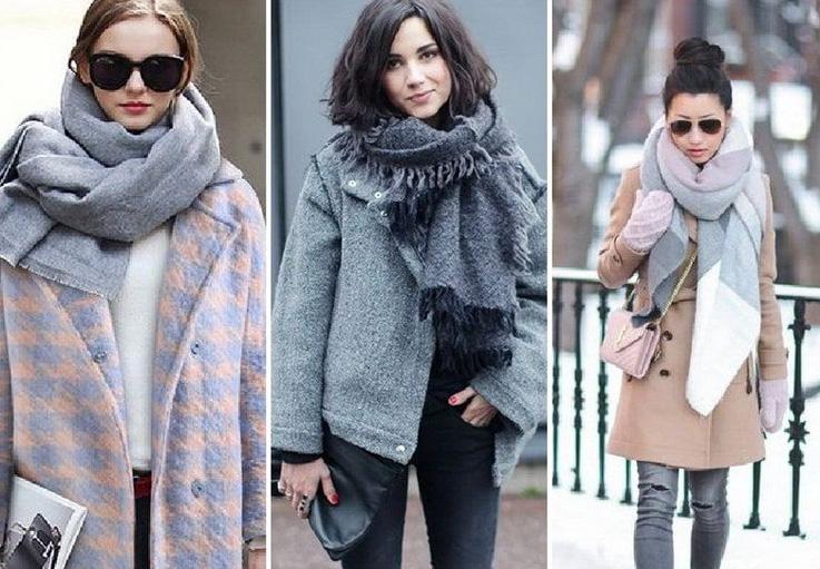 теплые шарфы к верхней одежде