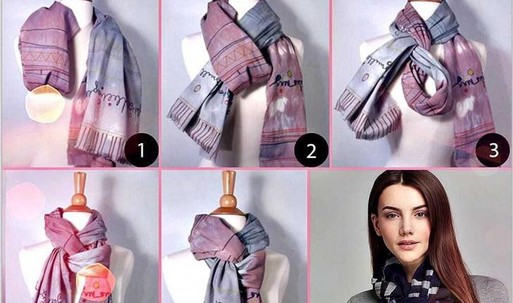 пошаговая инструкция завязывание шарфа на пальто