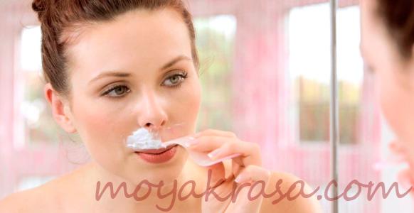 депиляция волос на верхней губе