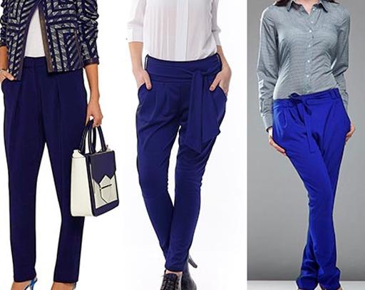синие женские брюки