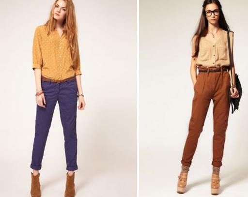 девушки в модных брюках