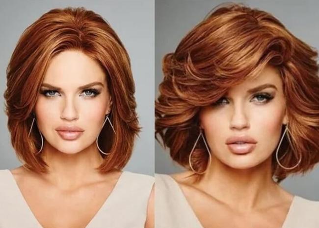 стрижка с рыжими волосами