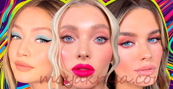 девушки с модным макияжем 2020 года