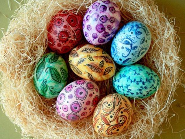 красива роспись на яйцах