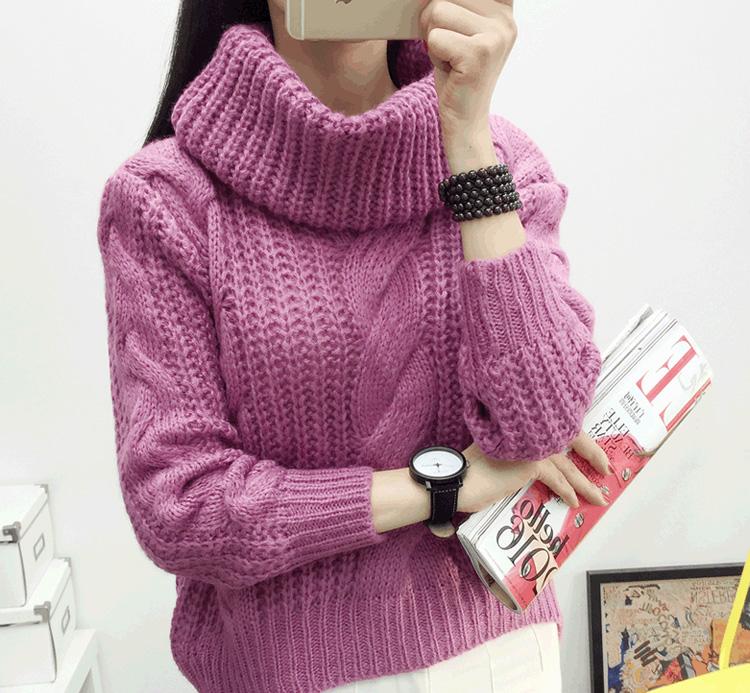 модный теплый женский свитер