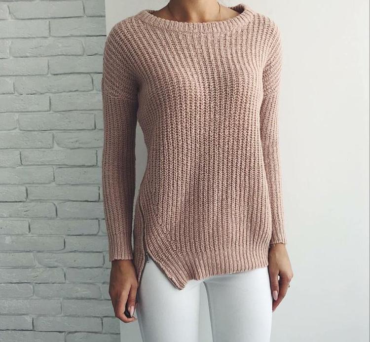 бежевый женский свитер