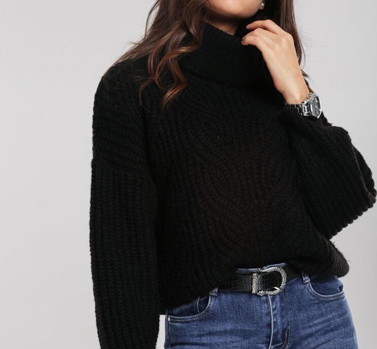 женский свитер черного цвета