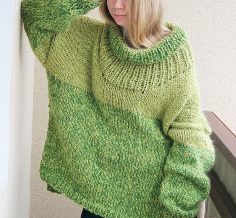 светло-зеленый свитер для женщин