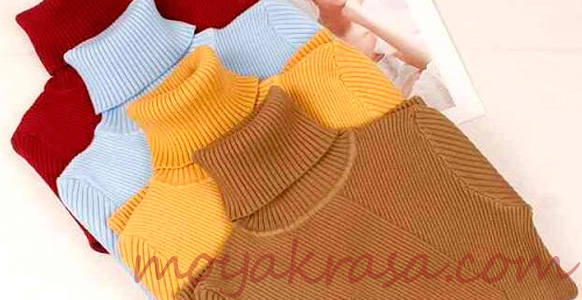 женские теплые свитера разных цветов