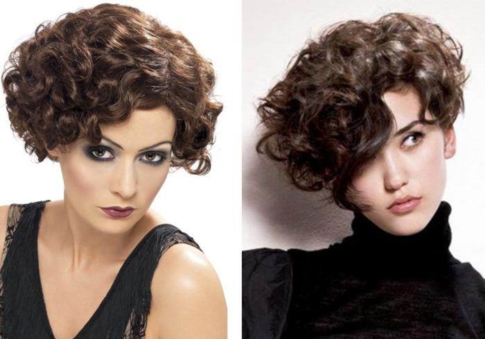 модная стрижка на кудрявые волосы