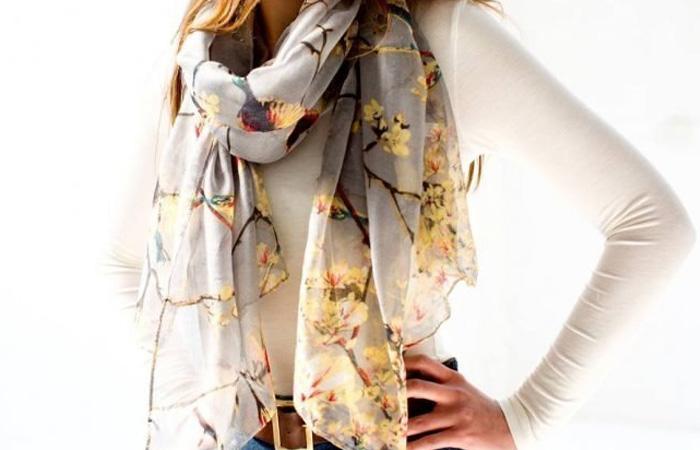 цветной шейный платок